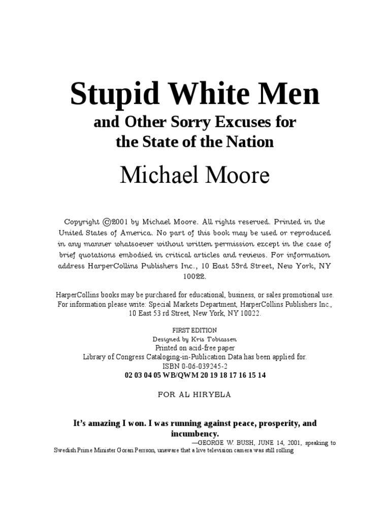 Ay Pllin Porno michael moore - stupid white men   government   politics