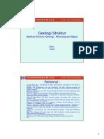 P12 GEOLOGI STRUKTUR Aplikasi Struktur Geologi