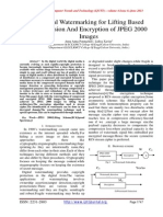 A Digital Watermarking for Lifting Based Compression And Encryption of JPEG 2000 Images