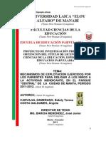 Estructura MUDO de Proyecto de Tesis Ab. 2011