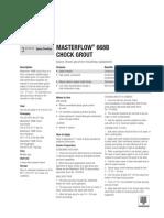 Masterflow668BChockGrout Ing