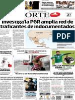 Periódico Norte edición impresa del día 21 de mayo del 2014