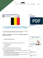 Cours de Contentieux Administratif Belge