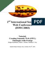 Protege OWL Tutorial ISWC03