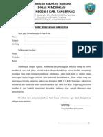 Surat Pernyataan Orang Tua