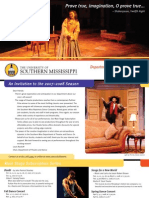 University of Southern Mississippi Theatre and Dance Events