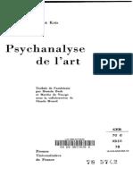 83050436 Ernst Kris Psychanalyse de l Art 1978