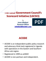 Presentation on the Local Government Councils' Scorecard Initiative