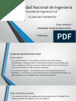 Clases de Contratos en El Peru