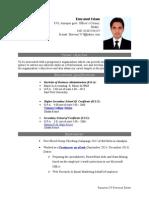 CV of Emranul Islam