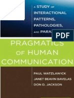 95625504 Watzlawick 1967 Beavin Jackson Pragmatics of Human Communication