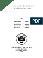 5 Profil Perusahaan Yang Menerapkan HACCP