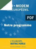 Udimodem Leseuropens Programme