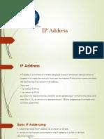 Ravi Namboori - IP Address Presentation