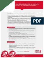 Manifiesto de la CES Elecciones Europeas 2014