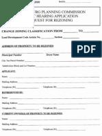 Hattiesburg Request for Rezoning Application