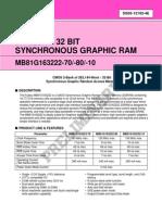 SGRAM datasheet