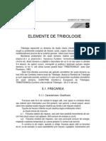 Organe de Masini, Elemente de Tribologie