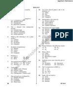 BCECE 2014 Biology Question Paper
