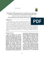 Enhanced Yield and Quality of Onion (Allium Cepa l. Cv Giza 6) Produced Using Organic Fertilization
