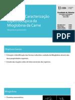 I - Extração e Caracterização Espetroscópica Da Mioglobina Da Carne