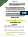 Sample Quality Manual