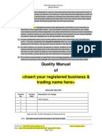 Sample Quality Manual