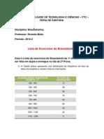 175001_Lista de Exercícios de Bioestatística