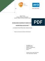 Mémoire de Master 1 - Journalisme de données et agence filaire