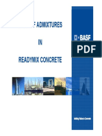 Role of Admixture in Concrete