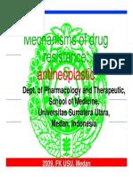 Mechanisms of Drug Resistance - Antineoplastic1