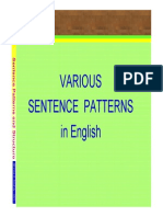 English Sentence Patterns