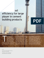 Logistics Cost Efficiency for Cement Cos. (E&Y)