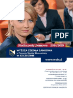 Informator 2014 - Studia Podyplomowe - Wyższa Szkoła Bankowa w Szczecinie