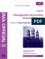 F3 Old Cima p 9 Management Accounting Financial Strategy 2