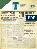 1968 07 25 CGT Universidad Analfabetos Artistas Presos