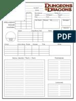 D&D Next Character Sheet