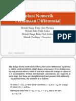 Kuliah - Solusi Numerik Persamaan Diferensial -2