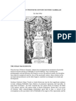 KEY FIGURES IN TWENTIETH CENTURY ESOTERIC KABBALAH.doc