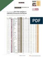 Decideurs Top 100 2013 Classement Cabinet d Avocats d Affaires