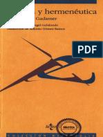 Gadamer Hans Georg - Estetica Y Hermeneutica