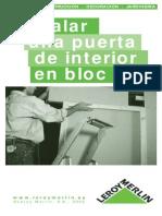 Instalar Una Puerta de Interior en Block
