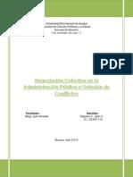 Negociación Colectiva en La Administración Pública
