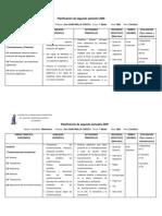 Planificación de segundo semestre 2009