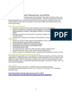 Grants Researcher andWriter Job Opening