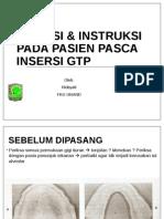 Instruksi Pada Pasien Pasca Insersi Gtp