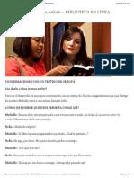 Conversaciones Con Un Testigo de Jehová
