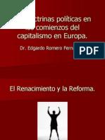 Las Doctrinas Políticas en Los Comienzos Del Capitalismo