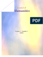 Journal of Humanities 2009 Vol 1 No 1