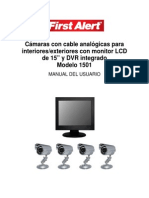 Camaras Con Cable Analogico Con Monitor Dvr